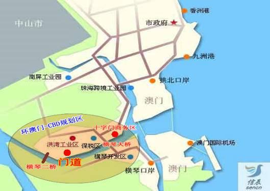 珠海市十字门中央商务区门道商务办公楼房产项目
